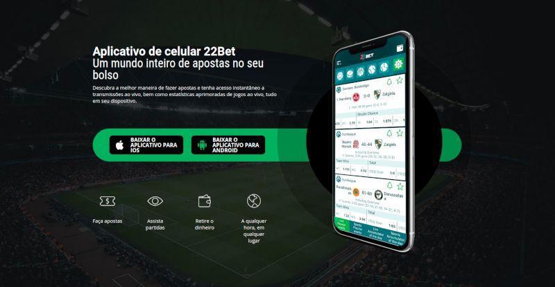22bet possui aplicativo para celular