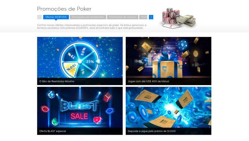 Promoções de 888 Poker