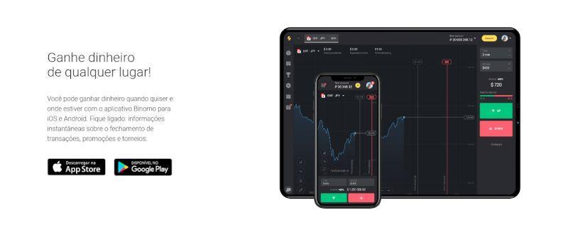Binomo para Dispositivos Android & iPhone