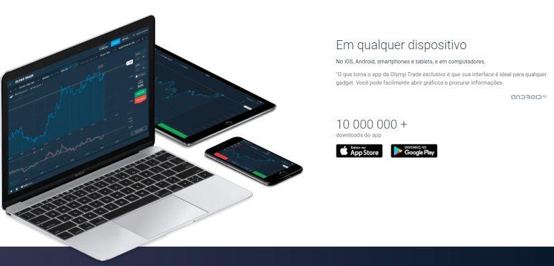 Olymp Trade para Dispositivos Android & iOS
