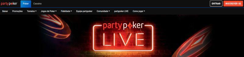 PartyPoker ao vivo