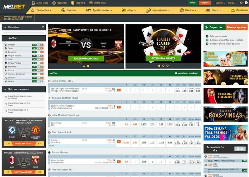 Melbet home page