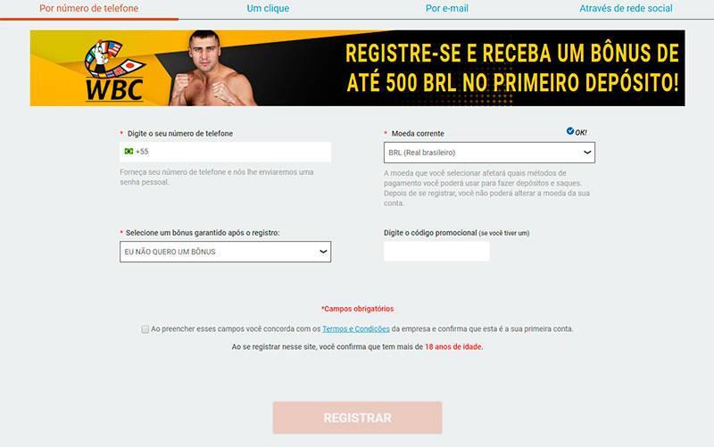 Melbet registro