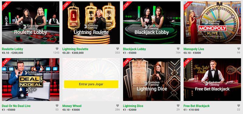 Unibet Casino ao vivo