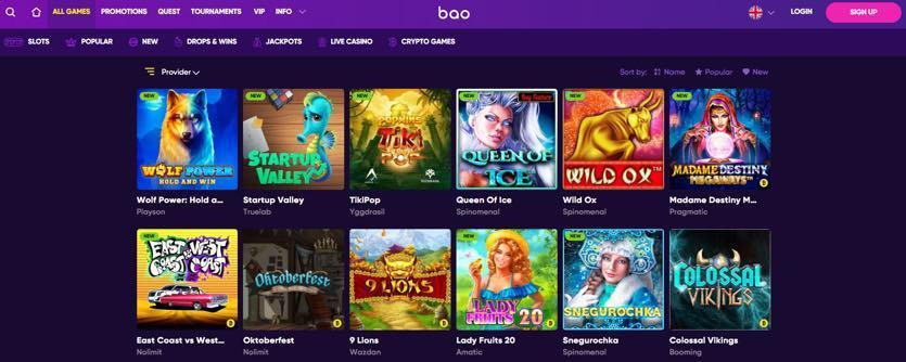 Bao casino jogos