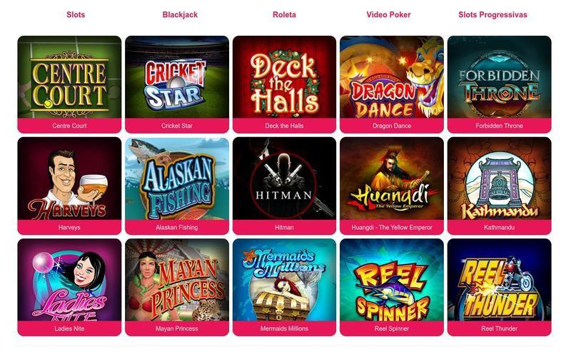 Variedade de Jogos SPIN PALACE Casino