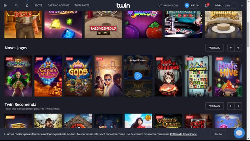 Twin casino - jogos